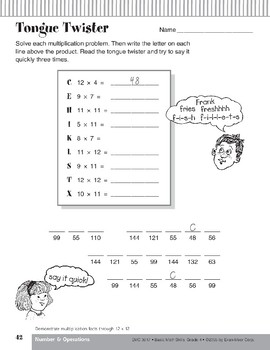 Multiplication Facts Through 12s