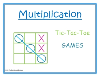 Multiplication Facts Tic Tac Toe Games
