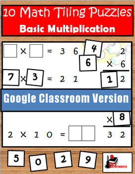 Multiplication Facts Tiling Puzzles - Google Classroom Version
