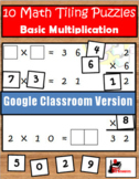 Multiplication Facts Tiling Puzzles - Google Classroom Ver