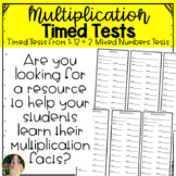 #ATeachersHalfOffDay Multiplication Facts Timed Tests