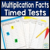 Multiplication Facts Timed Tests: x1 thru x12 (w/ Answer Keys)