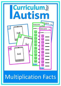 Multiplication Facts Times Tables 2-10, Autism, Special Ed