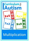 Multiplication Facts Times Tables 2-12 Cards Autism Specia