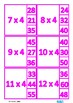 Multiplication Facts Times Tables 2-12 Clip Cards, Autism
