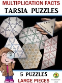 Multiplication Facts / Times Tables / Tarsia Puzzles: 5 LA