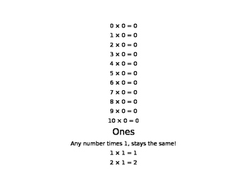Multiplication Facts: Tips and Tricks