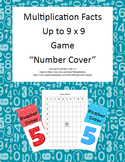 "Multiplication Facts Up to 9 x 9-Game-""Number Cover""-Grades 2-4"