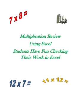 Multiplication Facts Using Excel