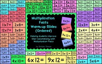 Multiplication Facts Warm-up Slides (Ordered)