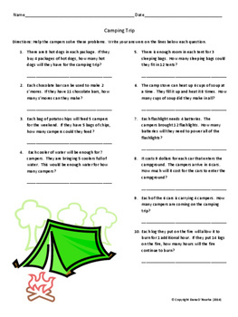 3 Multiplication Facts Word Problem Worksheets/Printables with Keys