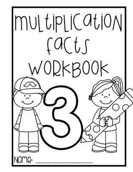 Multiplication Facts Workbook - 3 times tables