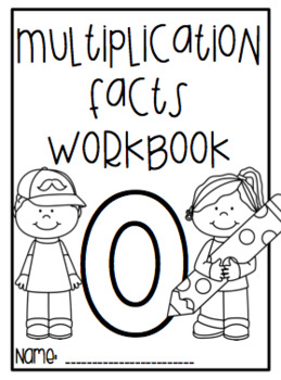 Multiplication Facts Workbook - Zero Facts
