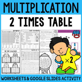 Multiplication Worksheets Multiplication Facts Practice 2 Times Table