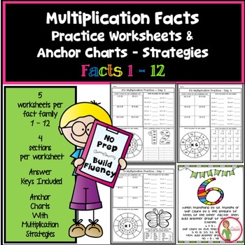 Multiplication Facts Worksheets / Anchor Charts Multiplica