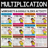 Multiplication Worksheets- Facts Practice Distance Learnin