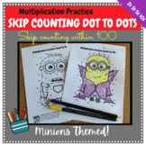 Multiplication Facts Worksheets Minions Skip Counting Dot to Dots - by 2 3 5 10