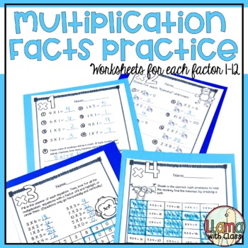Multiplication Facts Practice for Factors 1-10