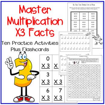 Multiplication Facts X3 Practice Activities