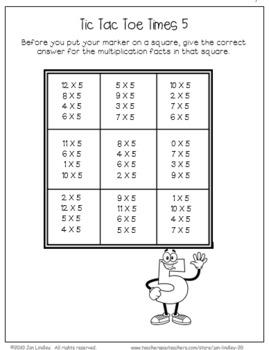 Multiplication Facts X5 Practice Activities
