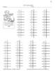 Multiplication Facts X6 Practice Activities