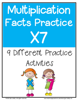 Multiplication Facts X7 Practice Activities