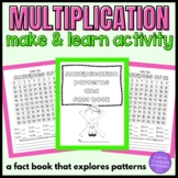 Multiplication Table Patterns and Facts Book Craftivity