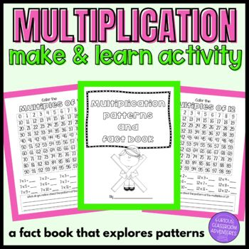 Multiplication Facts and Patterns Make and Learn Activity Book