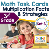 Multiplication Facts and Strategies Task Cards (3rd Grade)