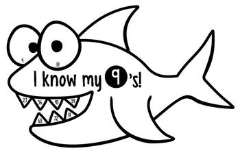 Multiplication Facts by Skip Counting - Shark Edition