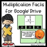 Multiplication Facts for Google Drive - Set 1 Distance Learning