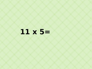 Multiplication Facts for Speed 11s and 12s