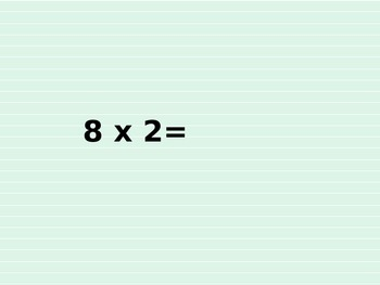 Multiplication Facts for Speed 8s and 9s