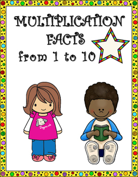 Multiplication Facts from 1 to 10 Worksheets