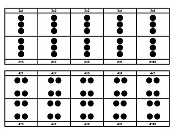 Multiplication Facts on a Ten Frame