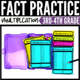 Multiplication Facts Task Cards - Printable & Digital Dist