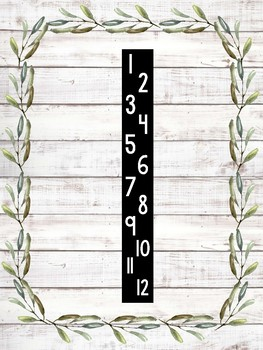 Multiplication Facts to 12 - Farmhouse & Shiplap