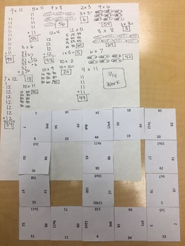 Multiplication Facts to 144 Puzzle Multiplication Facts 1-12 Puzzle
