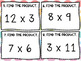 Multiplication Facts (up to 12) SCOOT! Game, Task Cards or Assessment
