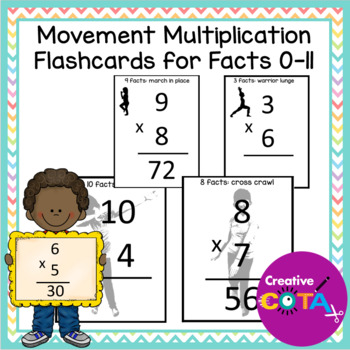 Multiplication Facts Flash Cards with Movement