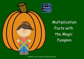 Fall Theme Multiplication Facts with the Magic Pumpkin Smart Board Lesson