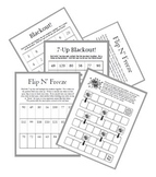 Multiplication Fast Fact Practice Games Bundle