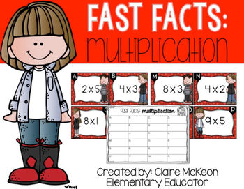 Basic Multiplication: Fast Fact Scoot