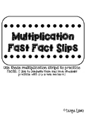 Multiplication Fast Fact Strips