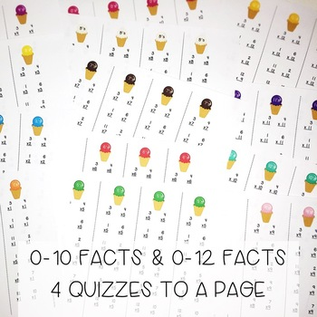 Multiplication Facts - Timed Fluency Quizzes