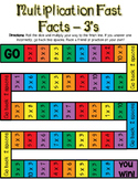 Multiplication Fast Facts Board Game - 3's