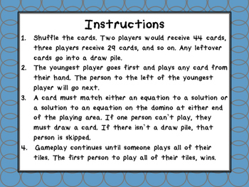 Multiplication Fast Facts Dominoes Facts 5-8