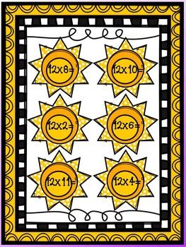 Multiplication File Folder Game - 12's
