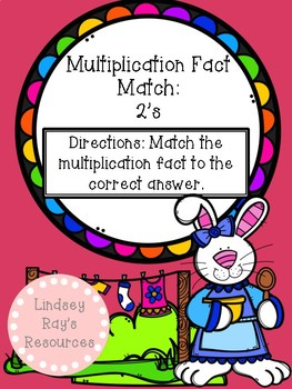 Multiplication File Folder Game - 2's