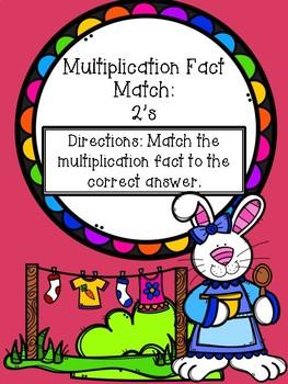 Multiplication File Folder Game - 2's